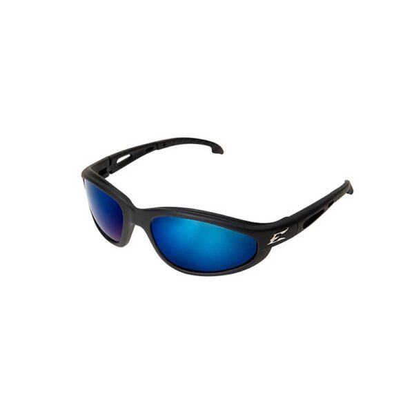 Edge Dakura — Black Frame / Polarized Aqua Precision Blue Mirror Lens Safety Glasses