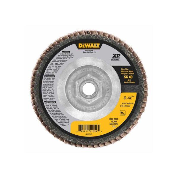 DEWALT 4-1/2 x 5/8-11 40G Type 29 XP Flap Disc