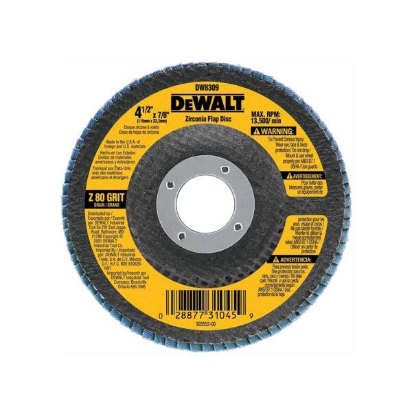 DEWALT x 7/8 80-Grit Type 29 HP Flap Disc