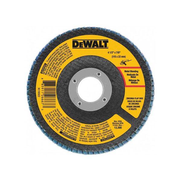 DEWALT 4-1/2 x 7/8 60 Grit Zirconia T29 Flap Disc
