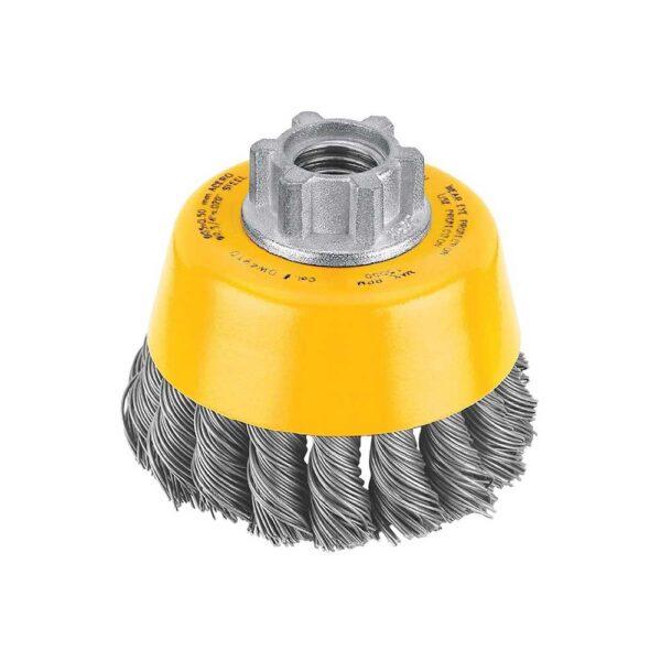DEWALT 3 x 5/8-11 HP 0.020 Carbon Knot Wire Cup Brush