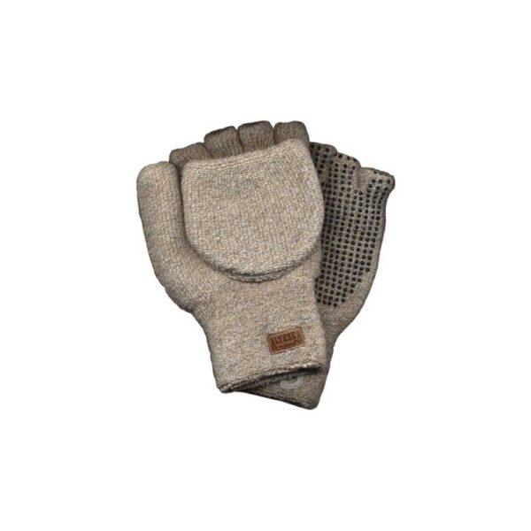 Kinco Large Alyeskaa Ragg Wool Convertable Fingerless Gloves/Mittens