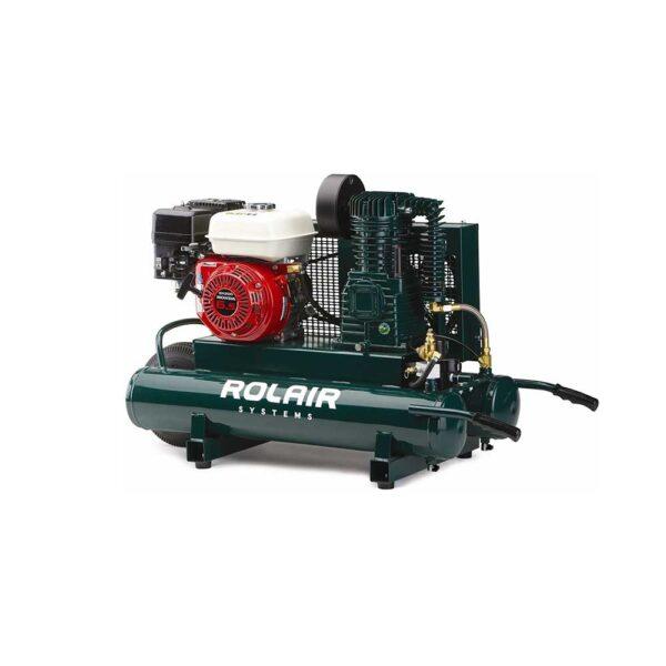 Rol-Air 6-1/2 HP Belt Drive Twin Tank Gas-Powered Air Compressor