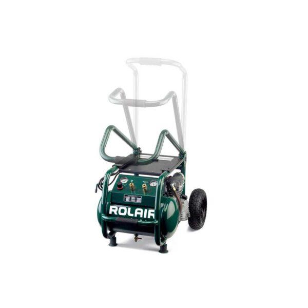 Rol-Air 2.5 HP (115V) 6.5 CFM@90PSI, 5.3 Gallon Cart Compressor w/Folding Handle